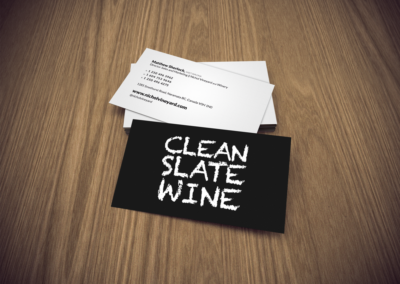Clean Slate Wine Business Cards