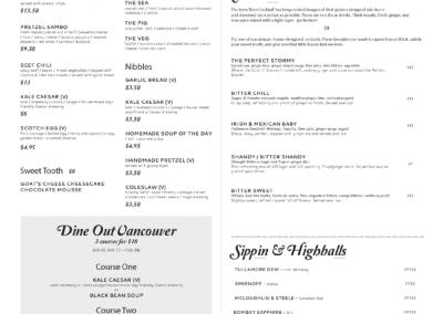 bitter menu