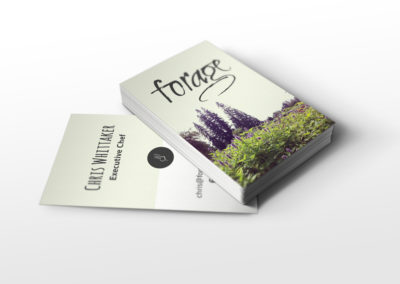 Forage Restaurant Business Cards