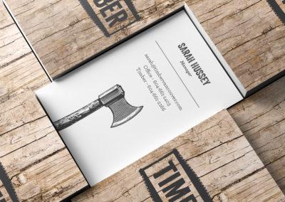 timber business card design