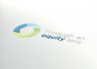equity-lens logo design
