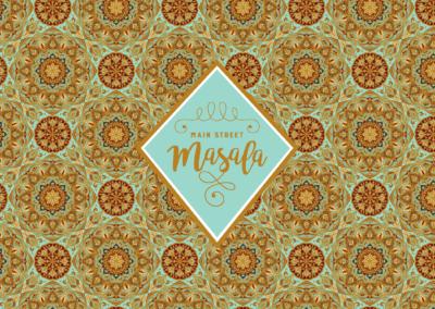 main street masala logo design