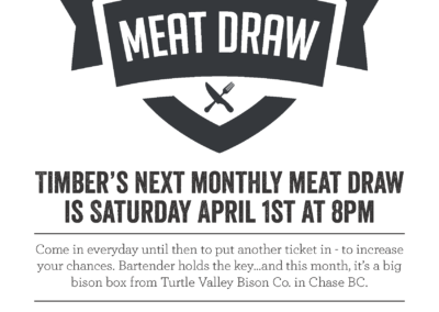 timber meat draw poster