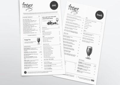 Forage Restaurant Menus