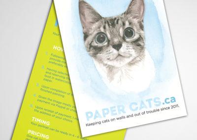paper cats postcard
