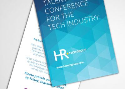 tech conference postcard