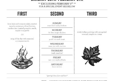 dine out vancouver menu design
