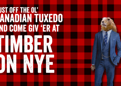 timber new year's eve design