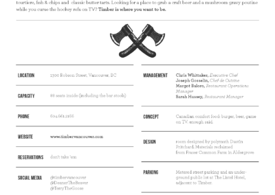 timber fact sheet design