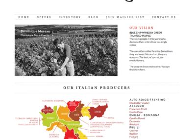 Sedimentary Wines Website