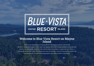 blue vista resort Mayne island
