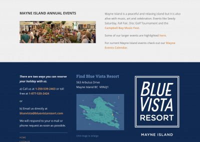 Blue Vista Resort - website