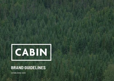 CABIN forestry brand design