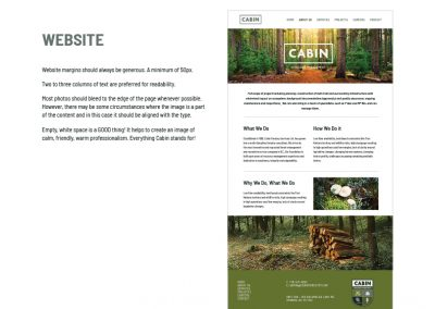 CABIN - brand design - website
