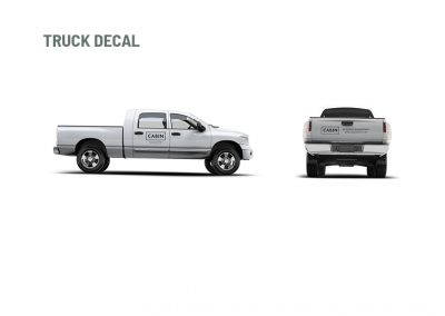 CABIN - brand design - truck decal