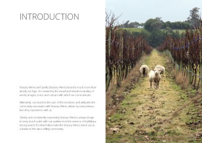 massey wines - brand design