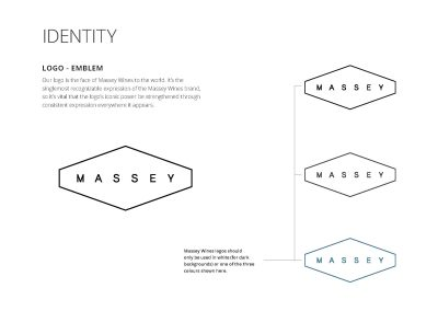 massey wines - brand design