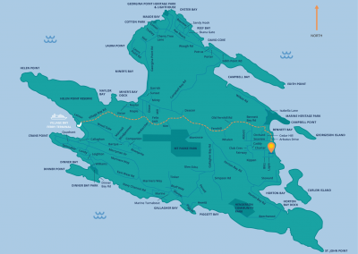 Blue Vista Resort - Mayne Island map