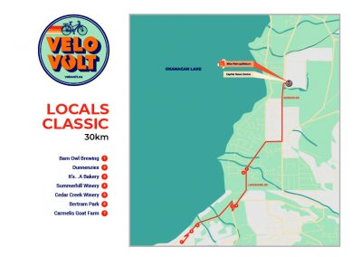 Velo Volt - custom route map