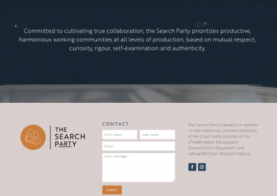 Search Party Productions Website